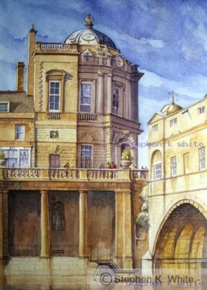 Pulteney Bridge from the steps, Bath N.E. Somerset