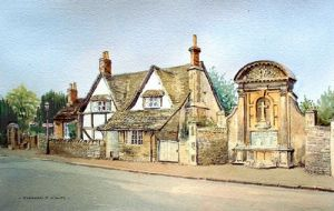 Lacock War memorial and Cottage - Medieval Village - Lacock - Chippenham - Wiltshire