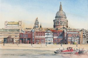 St Pauls from across the Thames- London