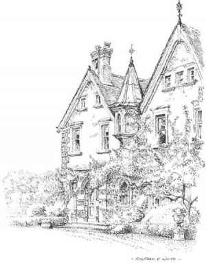 Birling House front view - Birling