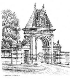 Gates to the grounds of Castle Ashby - Northampton - Nothamptonshire - East Midlands