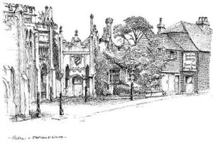 Hadlow Castle Entrance & Bakery - Kent