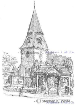 St Mary The Virgin Church with Lych gate  - Bexley Village - Kent