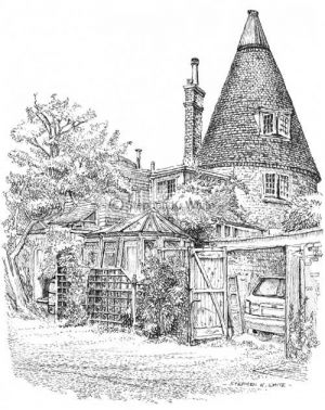 Oast House - Front view -  Otford Kent