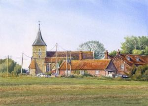Across the Field - St Mary in the Marsh - Romney - Kent
