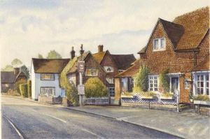 Otford cottage and the Horns Public House - Otford - Kent