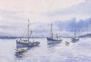 Boats in the Mist -