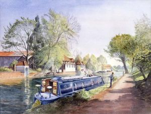 Gregory Narrow Boat - River Ware Herts