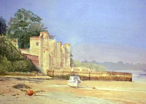 Low Tide Upnor Castle 2 -  River Medway - Rochester - Kent -Only availble in A5 size