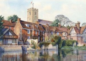Aylesford from across the river - Kent