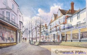 High Street View, The Pantiles, Tunbridge Wells, Kent